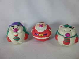 """Applause Santa Snowman Polar Bear Figurines Ball 1.5"""" - $9.89"""