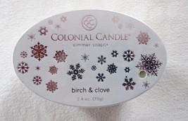 2 Colonial Candle Snaps/Tarts -BIRCH and CLOVE  for simmer pots - $7.00