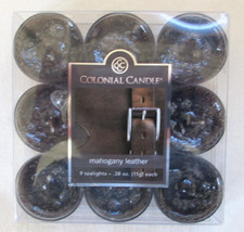 Colonial Candle  MAHOGANY LEATHER  TEALIGHTS (9) - $8.00