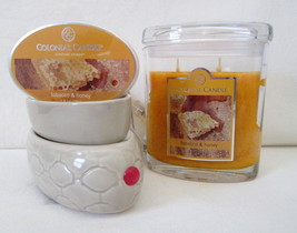 Colonial Candle Electric Tart Warmer 2 in 1 &Tobacco & Honey JAR & SNAP ... - $34.99