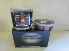 Colonial Candle Electric Tart Warmer 2 in 1 &FIRESIDE Jar & Snap GIFT SET - $27.99