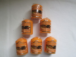 Lot of 6 Colonial Candle Votives -PUMPKIN COCONUT TORTE~~17 hour - $14.00