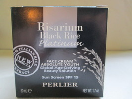 Perlier BLACK RICE PLATINUM Face Cream ABSOLUTE YOUTH 1.7 OZ. BOXED - $25.99