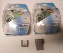 2 x Transparent N64 Controllers + 256K Memory + Rumble - $24.95