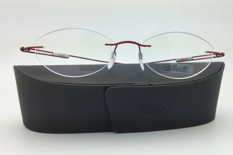 New SILHOUETTE Eyeglasses TITAN NEXT GENERATION III 6619 6079 49-17 Red w/ Clear