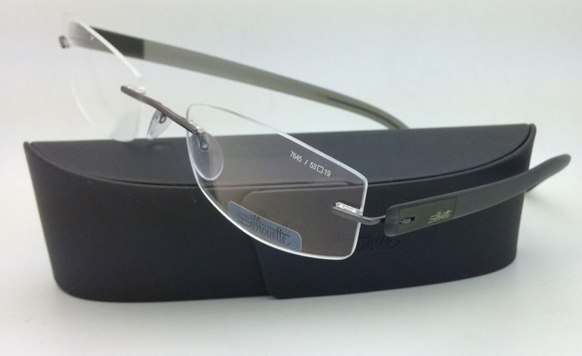 New SILHOUETTE Eyeglasses ENVISO 7645 6052 53-19 Khaki Green w/ Clear lenses