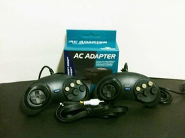 NEW 2 Controllers + RCA A/V Cable + AC Power Adapter  for Sega Genesis 2... - $18.95