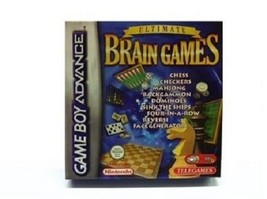 Ultimate Brain Games for Game Boy Advance CHESS CHECKERS MAHJONG BACKGAMMON - $8.95