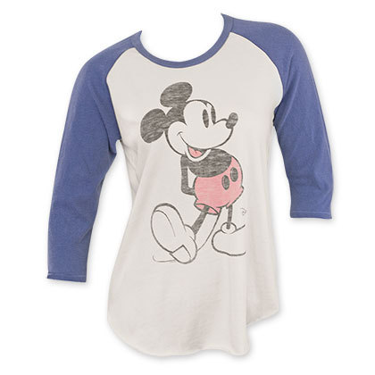 Disney mickey raglan long sleeve jnk womens shirt