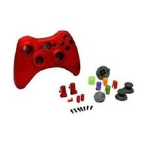 Controller Replacement Housing Shell Chrome Polish RED FOR XBOX 360 Cont... - $12.95