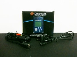 NEW Sega Dreamcast Blue Virtual Memory VMU + AC Power Cord cable + RCA A/V Cable - $16.95