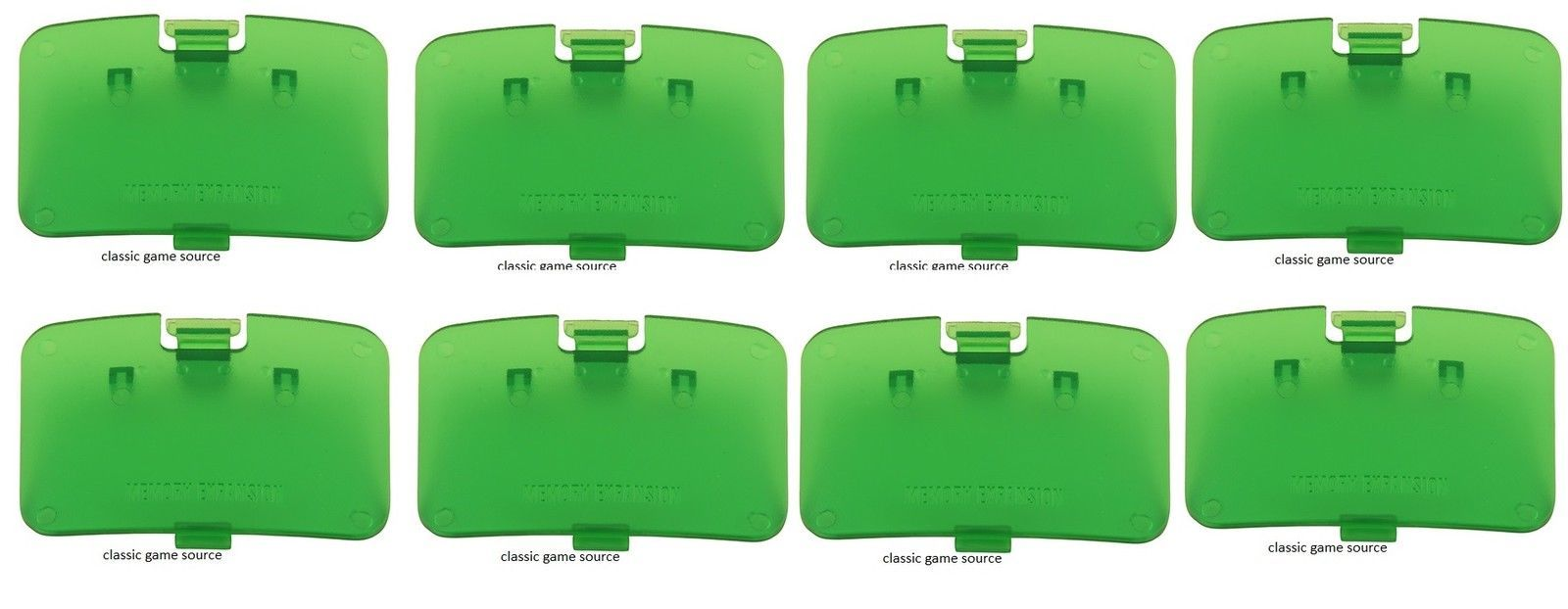 8 LOT NEW Jungle Green Memory Expansion Jumper Pak Cover Lid Nintendo 64 N64