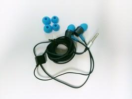 NEW Aqua Blue Super Bass Headphones Stereo EarBud Headset 3.5mm Volume C... - $6.95