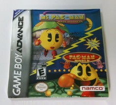 NEW Crushed box Mrs Ms Pac Man Maze Madness &  Pac-Man World Game boy Ad... - $9.95