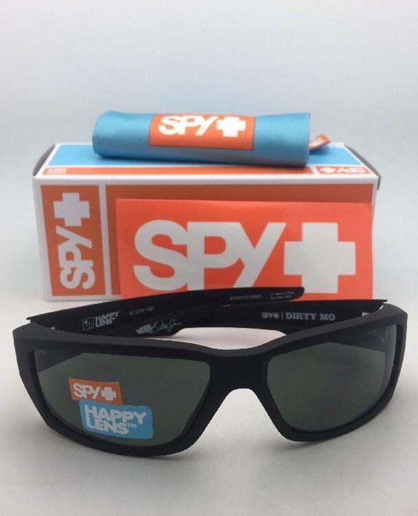 281f2d896dd7d New SPY OPTIC Sunglasses DIRTY MO Soft Matte Black Frame w Happy Grey-Green