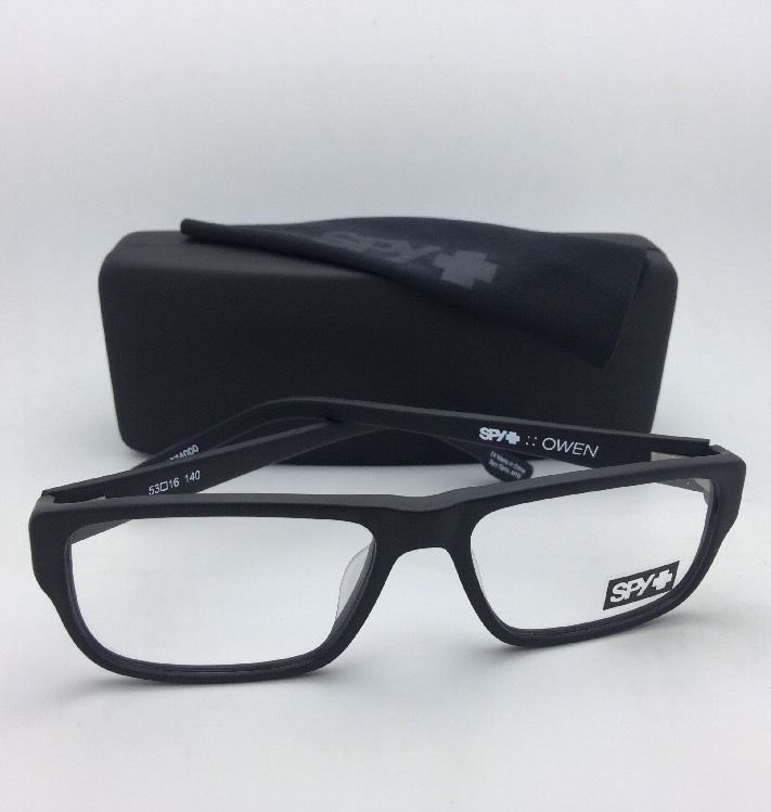 New SPY Optic Eyeglasses OWEN 53-16 140 Matte Black Frame w/ Spring Hinges