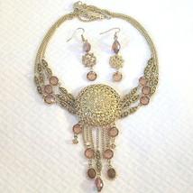 Vintage Renaissance Revival Crystal Festoon Bib Tassel Fringe Necklace ... - $260.00