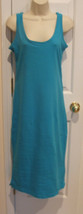 new in pkg turquoise  beach cover up maxi dress size  small - $18.80