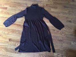 New Directions Women's Sweater Dress Size M Wool Blend Brown Turtleneck - $18.68