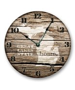 """MICHIGAN STATE HOMELAND CLOCK -GREAT LAKES HOME STATE - Large 10.5"""" Wall... - $20.69"""