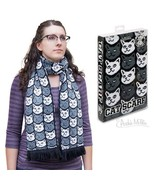 Cat Lover Soft-Knit Acrylic Scarf! - $18.68