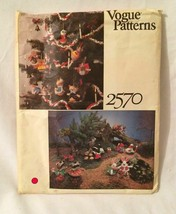 VOGUE #2570 CHRISTMAS ORNAMENTS Sewing Pattern Panda Owl Raccoon Skunk U... - $12.69