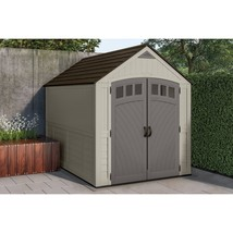Outdoor Storage Shed 7x10ft Patio Lockable Handles Durable Double-Wall R... - $1,642.36