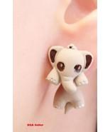 Fun & Trendy 3D Elephant Stud Earrings - $6.99