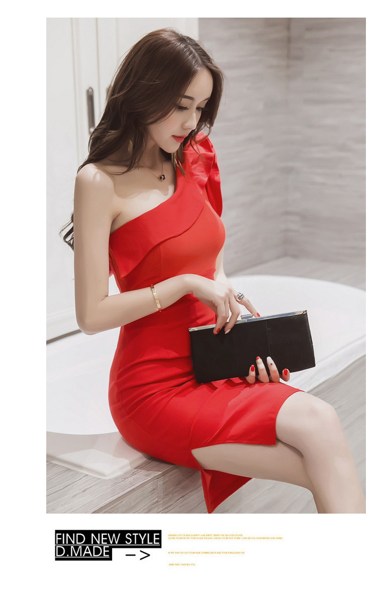 Primary image for pF169 Sexy charming single shoulder blouse, free S,M,L