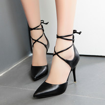 pp124 Sweet gladiator sharp headed pumps, stiletto,size 34-39 - $32.80+
