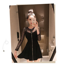 PF214 Sexy Stunning Lace Pleated Ress W Zipper Front, Size S,M,L - $28.80