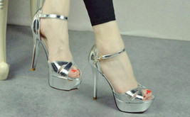 ps281 elegant crossed strappy ankle sandals, size 34-39 - $52.80
