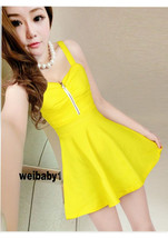 PF156 Sexy cutie halter mini dress w zipper front, free size - $28.80