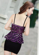 pf119 Cutie halter strappy dress, mesh & cotton, free size, red - $18.80