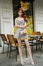pf135 Sexy cutie dot printed mini -dress, free size - $28.80