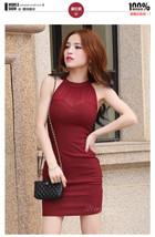 pf222 sexy halter mini dress, slim & sly type,, SIZE S-2xL - $48.80