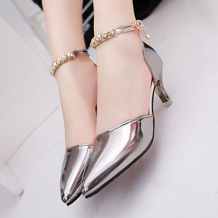 Primary image for PP137 Luxury rhinestones ankle pumps,size 35-39