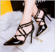 ps219 Sexy candy color pointed sandals w double strap, size 34-39 - $32.80+