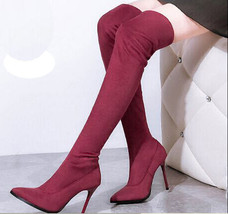 pb084 elegant pointy over-the-knee boots ,size 34..39 - $68.80