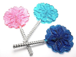 12 LARGE SNOWFLAKE LOLLIPOPS with Bling Sticks - Frozen Princess Party L... - $24.99