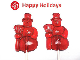 12 SNOWMAN HOLIDAY Lollipops - Stocking Stuffers, Holiday Favors - $13.99
