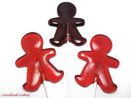 12 GINGERBREAD MAN LOLLIPOPS - $13.99