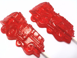 10 FIRE TRUCK LOLLIPOPS - Pick Any Color and Flavor - $13.99