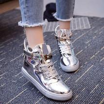 pa019 Shimmering color wedge sport shoes w loak back,size 35-39 - $48.80