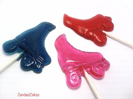 12 ROLLER SKATE LOLLIPOPS - Roller Skate Party Favors - $14.99