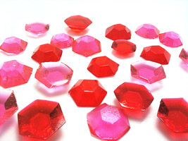 125-150 DIAMOND SHAPED EDIBLE Colored Sugar Gems - Select Any Color - $16.99