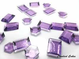 125 PURPLE EDIBLE SUGAR Jewels - Featured in Brides Magazine - $16.99