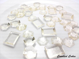 250 CLEAR EDIBLE SUGAR Jewels - Featured in Brides Magazine - Please rea... - $22.99