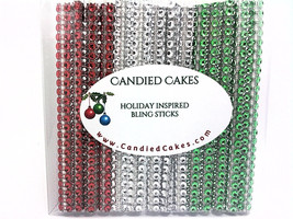 16 - HOLIDAY VARIETY Silver Mix of Cake Pop Bling Sticks - Free US Shipping - $11.99