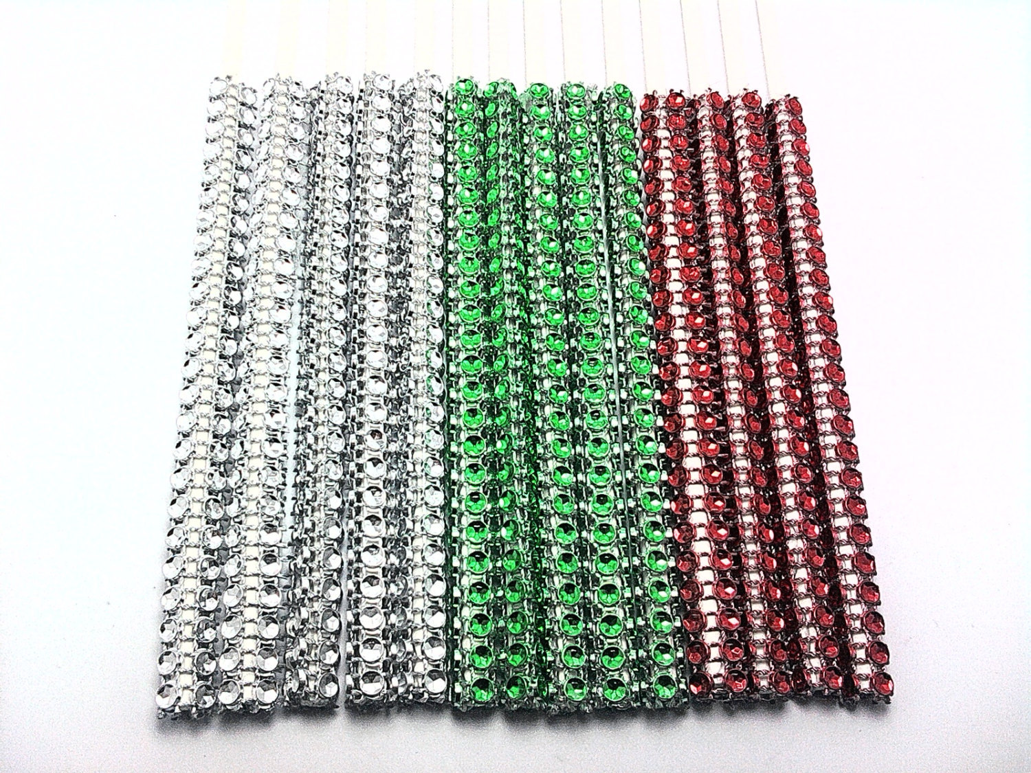 16 - HOLIDAY VARIETY Silver Mix of Cake Pop Bling Sticks - Free US Shipping
